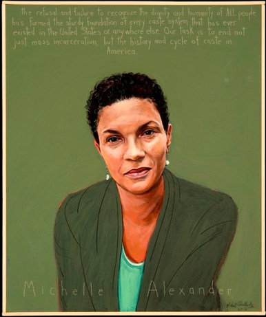 Michelle Alexander graphic, web