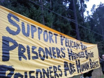 Pelican Bay prisoner support rally at gate 100111