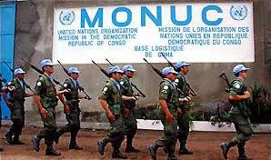MONUC UN peacekeepers in DRC