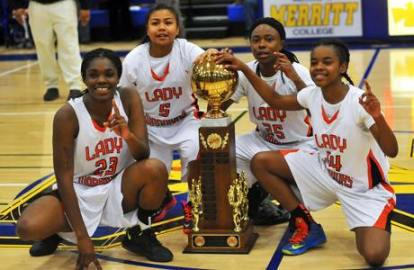 McClymonds High School Lady Warriors win 2013 Oakland Athletic League championship in Fleetwood's 'I Just Wanna Ball'