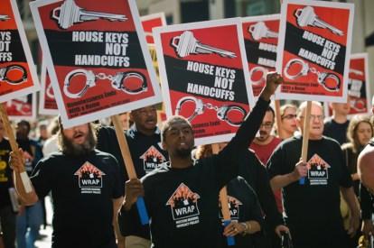 WRAP House Keys Not Handcuffs march