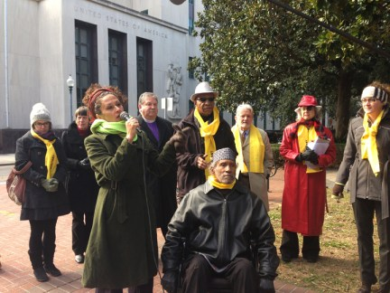 Woodfox hearing 5th Circuit Jackie Sumell speaks 010714 by Hillary Donnell