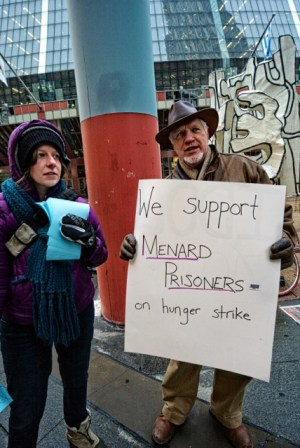 Menard hunger striker support rally Chicago 021314-2
