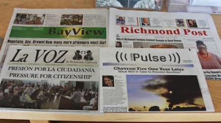 Richmond papers- Bay View, Post, La Voz, Pulse 0214