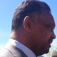 Jesse Jackson speaks press conf outside HP shareholder meeting 031914 by Damian Trujillo