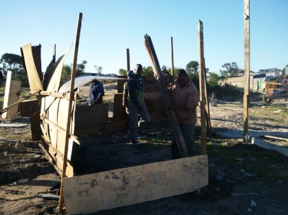 Marikana Land Occupation rebuilds homes 051613 by Abahlali baseMjondolo
