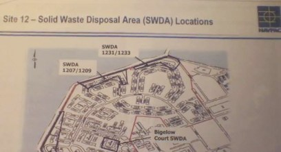 Treasure Island Navy map Solid Waste Disposal Area Locations