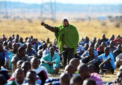 Marikana mine worker Mgcineni Mambush Noki, 30, from Mqanduli spoke w mighty voice, then killed in massacre by The Sowetan