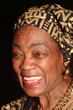 Mabel Williams speaks in Oakland on March 14, 2004. – Photo: Kamau Amen-Ra