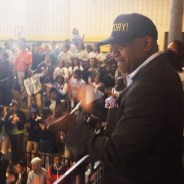 Ras Baraka announces mayoral victory to students at high school he principals 051414