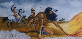 Warriors on the plains – Art: Leonard Peltier