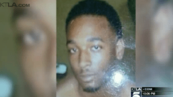 Ezell Ford, 25, was unarmed and, according to his family, was lying on the ground when he was fatally shot by a Los Angeles police officer Aug. 11, 2014. – Screenshot: KTLA