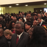 The crowd that came to hear Mike Brown Sr. filled every inch of the Third Baptist sanctuary. – Photo: Kia Croom
