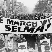In Harlem, 15,000 march in solidarity with the Selma voting rights struggle. – Photo: Stanley Wolfson, World Telegram & Sun, Library of Congress