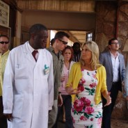 Dr. Denis Mukwege gives a tour of Panzi Hospital, which he founded in 1999, to Dr. Jill Biden, wife of U.S. Vice President Joe Biden, on July 5, 2014. – Photo: Daily Beast