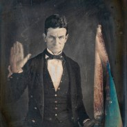A fierce young John Brown posed for this daguerreotype by Augustus Washington in 1846 or 1847.