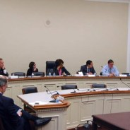 Ranking Member Maxine Waters hosts a roundtable discussion with Committee Democrats and HUD Secretary Castro on Feb. 4.