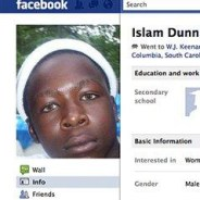 South Carolina prisoner Islam Dunn's Facebook page since removed by AP, cropped