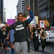 "Thousands march up San Francisco's Market Street in the youth-organized ""Millions March"" against police brutality in cities around the country on Dec. 13, 2014. Since then, SFPD has taken four more lives. – Photo: Jeremy Raff, KQED"