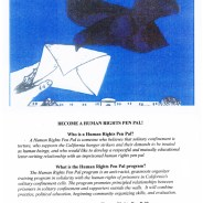 Human Rights Pen Pal Program flier, web