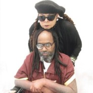 Mumia Abu Jamal in wheelchair, Wadiya Jamal visit 040915, cropped
