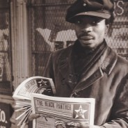 Black Panther newspaper young Panther sells Emory Douglas-designed ppr cy It's About Time, web cropped
