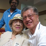 Verlie Mae Pickens and Anh Le at Jones United Methodist Church in 2014