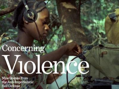 'Concerning Violence' poster
