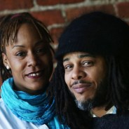 This photo filled most of the front page of the San Francisco Chronicle's Datebook on June 10, illustrating a major story on the San Francisco Black Film Festival the day before opening night, June 11. Kali O'Ray, son of festival founder, the great Ave Montague, and his wife, Katera Crossley, are co-directors, carrying the legacy to new heights. – Photo: Lea Suzuki, SF Chronicle