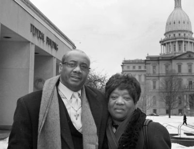 Rev. Edward Pinkney and his wife, Dorothy Pinkney shortly before his incarceration