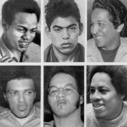Pictured are the San Quentin 6 at the time of trial: top row, from left, Fleeta Drumgo, Hugo Pinell and Luis Talamantez; bottom row, from left, Johnny Spain, David Johnson and Willie Tate (names courtesy Willie Sundiata Tate)