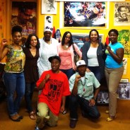 Gathered at the UNIA-ACL office in Philly are Shesheena; Keita, who is interviewed here; Baseemah; Goldii, Mumia's daughter; Daly; Stephanie; JR; and Malcolm Shabazz. – Photo: Block Report