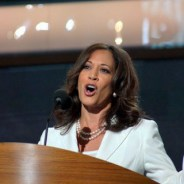 Kamala Harris speaks at the Democratic National Convention in Charlotte on Sept. 5, 2012. – Photo: Harrison Chastang