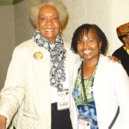 At the Florida A&M Black Psychology Conference in October 2014 are Dr. Frances Cress Welsing with Wanda Sabir. – Photo: Wanda Sabir