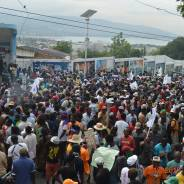 A massive turnout – even for Haitians – of supporters of Lavalas presidential candidate Dr. Maryse Narcisse protested election fraud on Dec. 16, the 25th anniversary of the first democratic election in Haiti. – Photo: Dr. Narcisse's Facebook