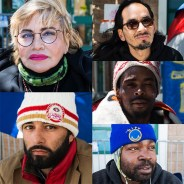 "The Frisco 5 hunger strikers, clockwise from top left, are Maria Cristina Gutierrez, 66, Ilyich ""Equipto"" Sato, 42, Selassie Blackwell, 39, Ike Pinkston, 42, and Edwin Lindo, 29. – Photos: Lola M. Chavez, Mission Local"