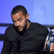 Jesse Williams accepts BET Humanitarian Award 062716 by Kevin Winter, BET, cropped