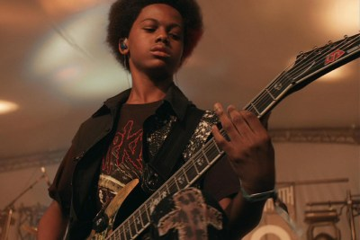 "Unlocking the Truth lead singer and guitarist Malcolm Brickhouse in ""Breaking a Monster"""