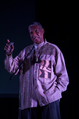 Eddie Conway, who knows the highs and lows of being a Panther political prisoner for decades, was the first keynote speaker at the Gala and introduced Danny Glover. – Photo: Malaika Kambon