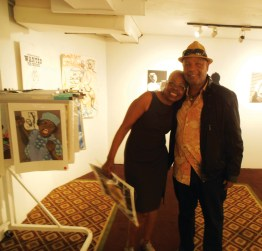 Here are Joyce Gordon of the Joyce Gordon Gallery and BPP Minister of Culture Emory Douglas. – Photo: Jahahara Alkebulan-Maat