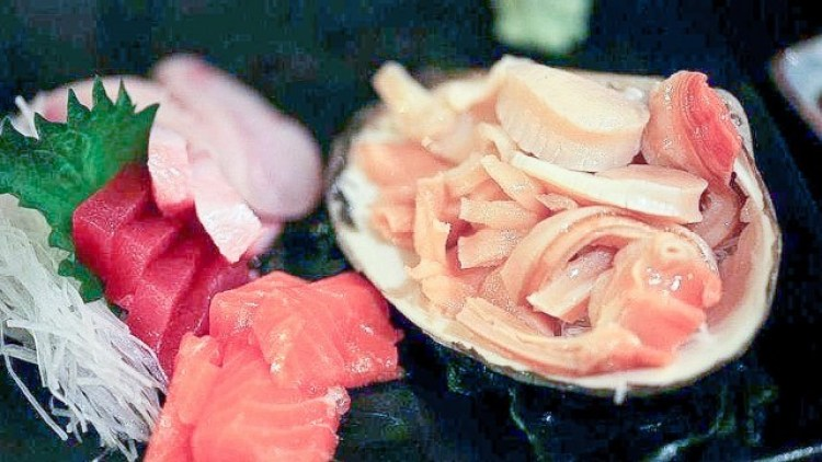Random selection of sashim in the Omakase option one evening