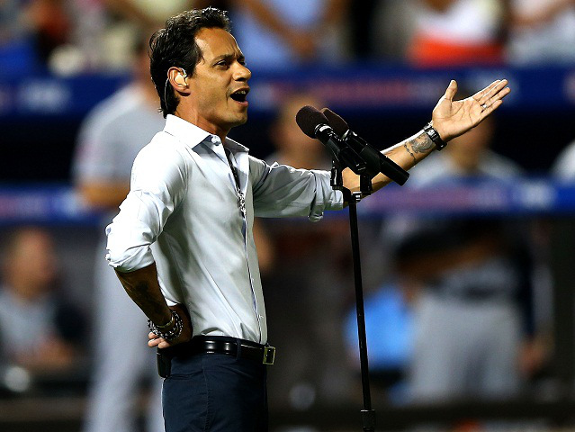 Marc Anthony during the 84th MLB All-Star Game on July 16, 2013 at Citi Field in the Flushing neighborhood of the Queens borough of New York City.