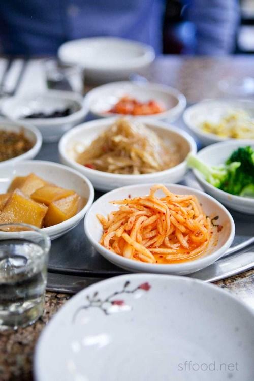 myung dong tofu cabin banchan