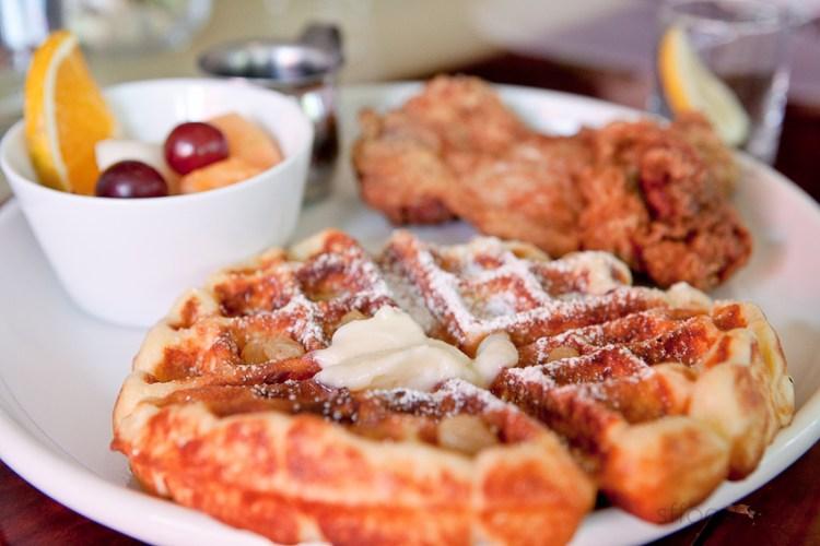 Closeup of the waffles