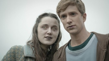 Programme Name: In The Flesh - TX: n/a - Episode: n/a (No. n/a) - Picture Shows:  Kieren (LUKE NEWBERRY), Amy (EMILY BEVAN) - (C) BBC - Photographer: Des Willie