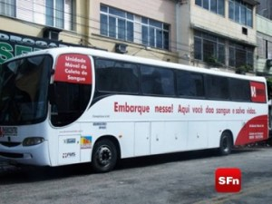 ônibus do hemocentro