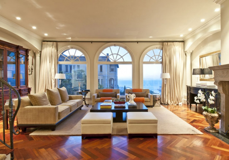 Living Room With Fireplace 255 Chestnut | San Francisco Properties : Luxury Homes And