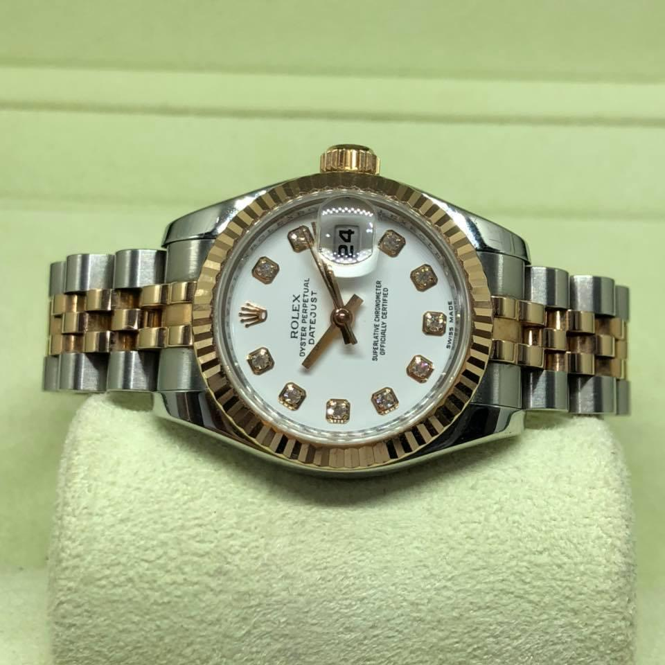 Rolexs Watches Pre Owned Rolex Datejust Ladies 2 Tone Rose Gold