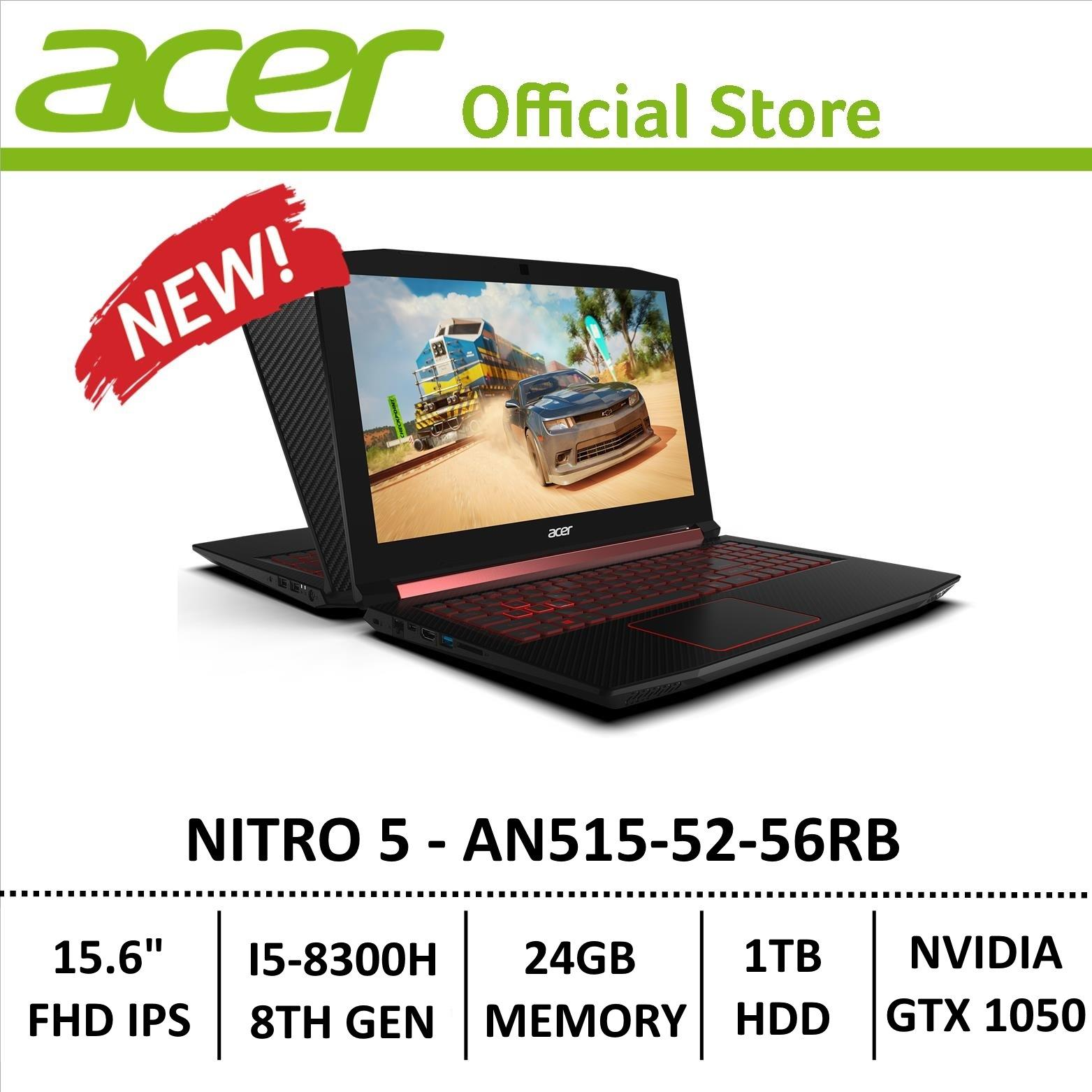 Laptop Günstig Acer Nitro 5 An515 52 56rb Gaming Laptop 8th Generation Core I5 Processor With Gtx 1050 Graphics Optane Memory