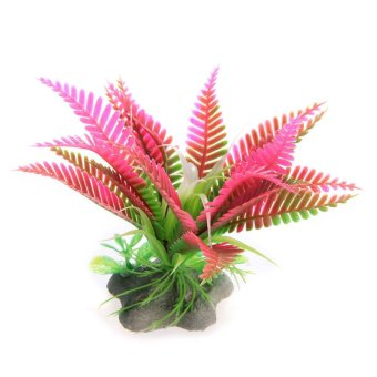 Elenxs Fish Tank Artificial Succulents Christmas Flowers Aquarium